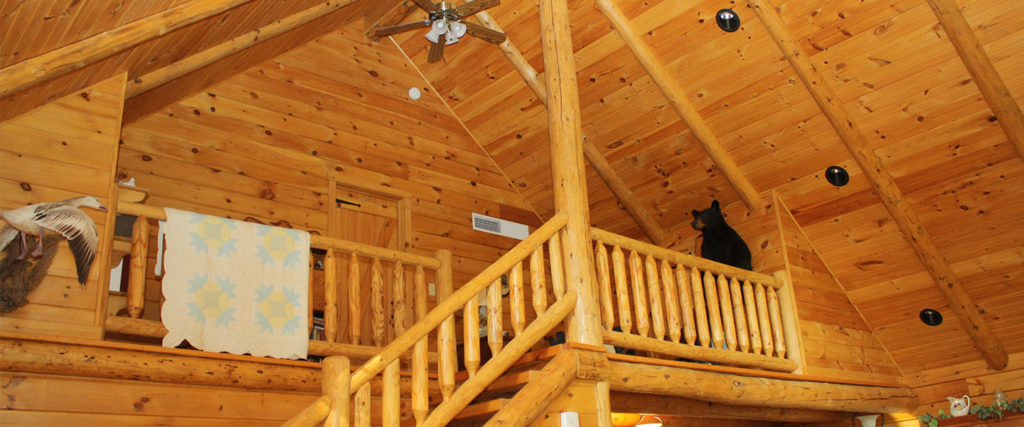 atglen log home with loft