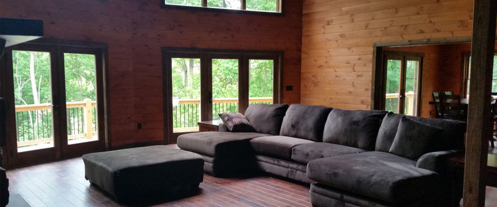 Bradford large model log home with great room