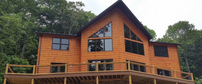 bradford model log home