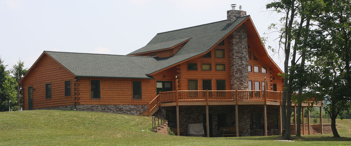 lake haven model log home