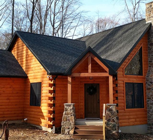 new custom log home in Berks County PA