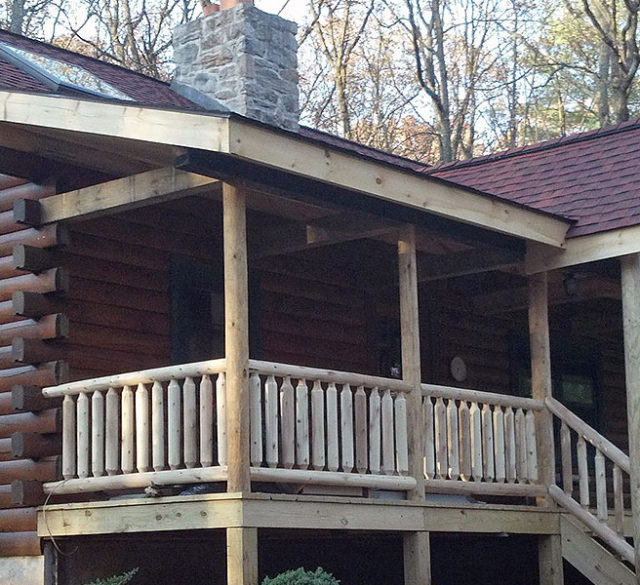 log cabin with renovations