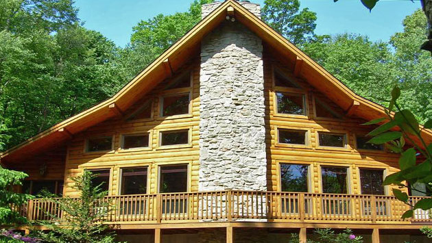 year round log home