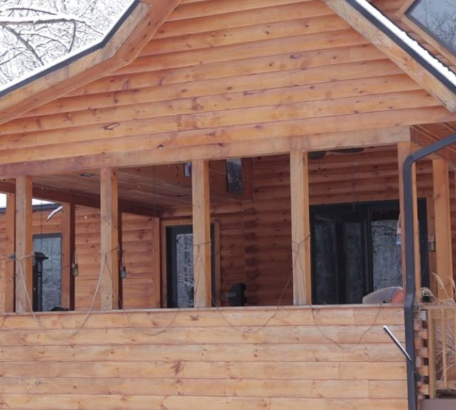 log home winterizing