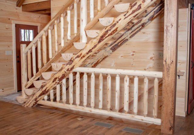 3 bedroom 2.5 bath log cabin plan