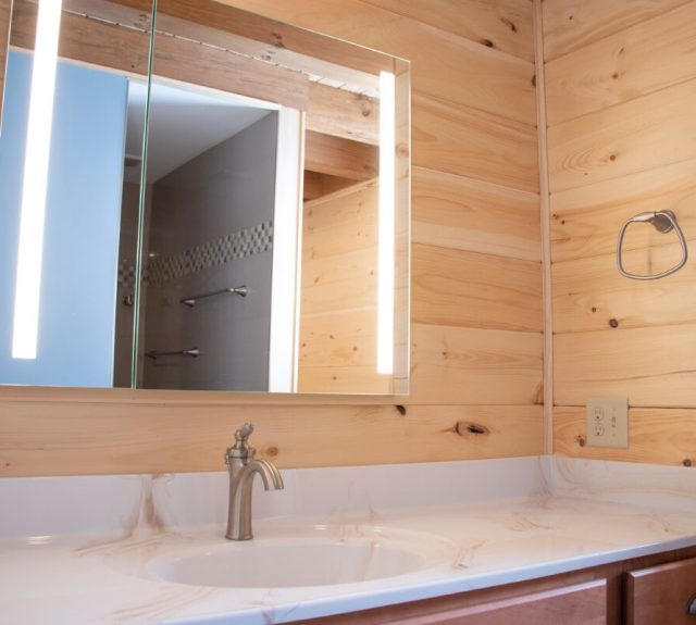 log cabin plans with large master bathroom