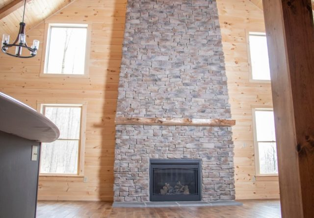 log cabin plans with living room fireplace