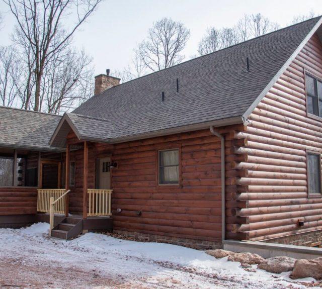 three bedroom log home model