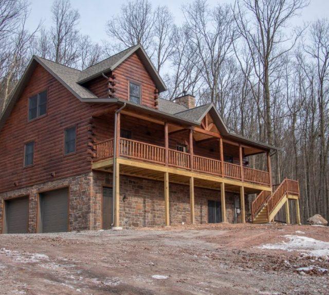 three bedroom log cabin plan