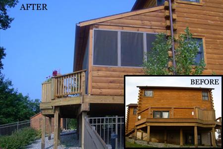 Log Home Remodel