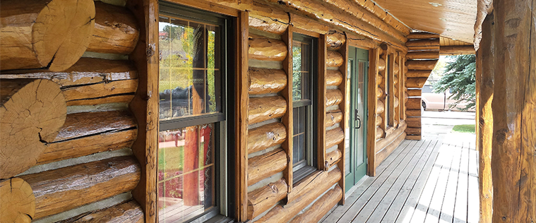 log home exterior maintenance