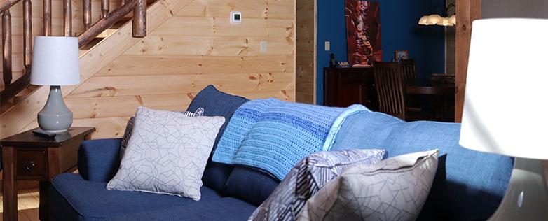 affordable log cabin living space
