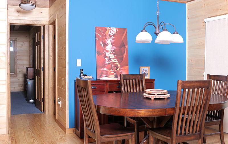 affordable log cabin breakfast nook