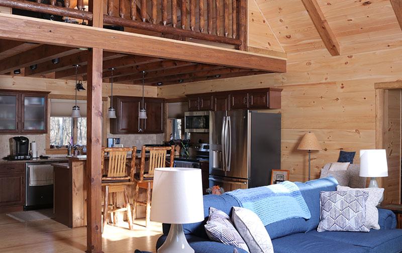 affordable log home standard floor plan