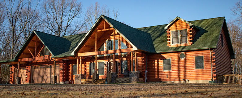 luxury log home model