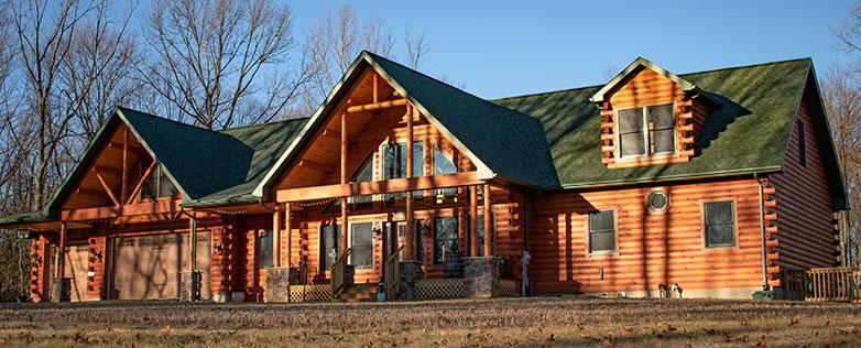 custom log cabin in pa
