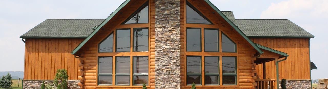 A beautiful log cabin home in Manheim PA