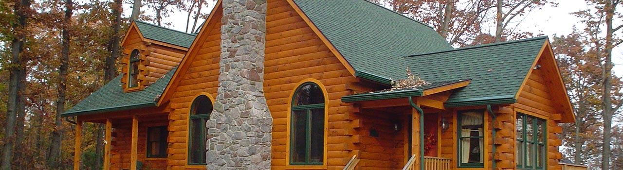 A custom log cabin home built in Pottstown PA