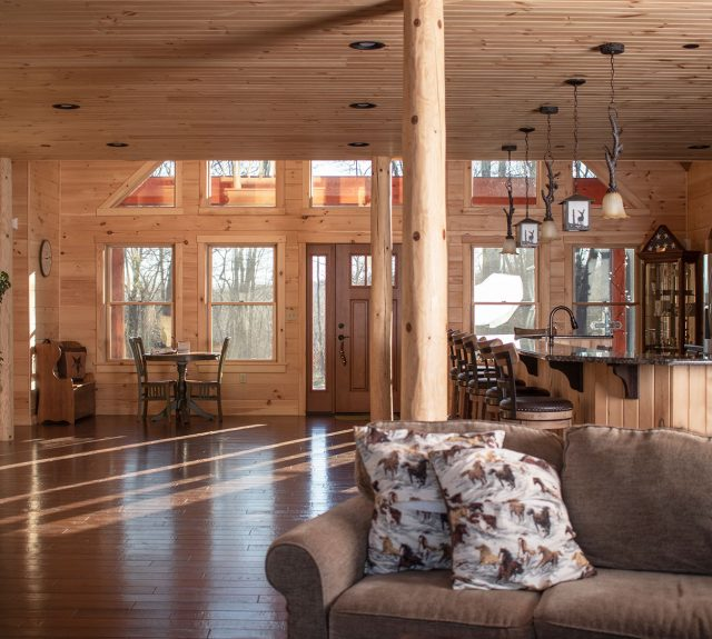 cost to build a log home