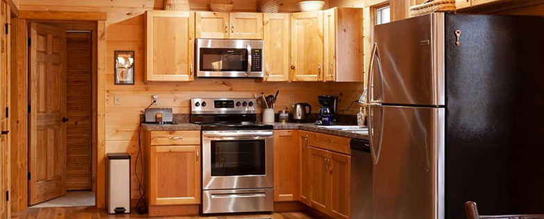 dream log home kitchen