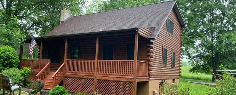 diy log home restoration