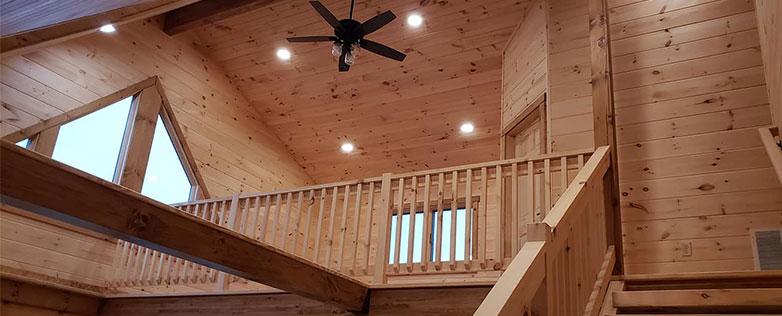 inside of complete log home