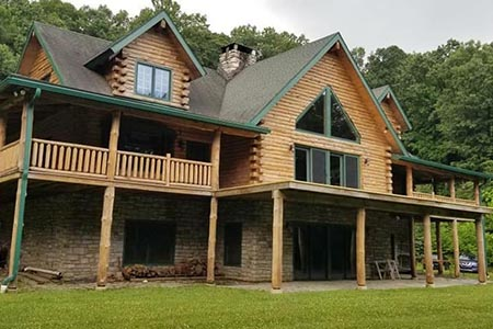 A beautiful log home restoration completed by Gingrich Builders