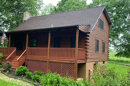 A complete log home maintenance repair project